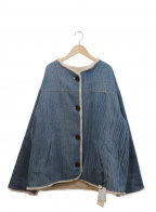 MAISON HAUSSMANN(メゾンオスマン)の古着「リバーシブルファーコート」 インディゴ