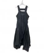 LOEWE(ロエベ)の古着「リネンギャザータンクワンピース」|ブラック
