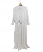 uncrave(アンクレイヴ)の古着「ドロストシャツワンピース」 ホワイト