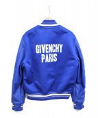 GIVENCHY(ジバンシィ)の古着「バックロゴボンバージャケット」|ブルー