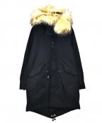 Galaabend(ガラアーベント)の古着「ライナー付モッズコート」|ブラック