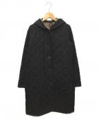 LAVENHAM(ラベンハム)の古着「キルティングロングコート」|チャコールグレー