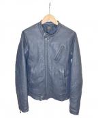 glamb(グラム)の古着「シングルライダースジャケット」|ネイビー
