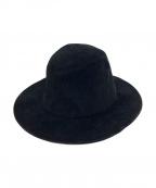 kijima takayuki(キジマタカユキ)の古着「OVERSIZE SUEDE HAT」|ブラック