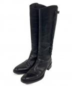SARTORE(サルトル)の古着「サイドレースアップロングブーツ」|ブラック