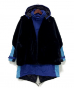 TOGA VIRILIS()の古着「Nylon taffeta fur blouson」 ブラック×ブルー