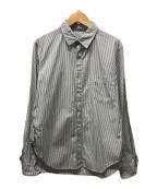 TOGA(トーガ)の古着「フリルストライプシャツ」|ホワイト×ブラック