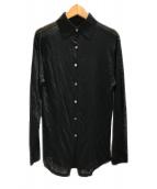 6(ROKU) BEAUTY&YOUTH(ロクビューティーアンドユース)の古着「ハイゲージシャツ」 ブラック