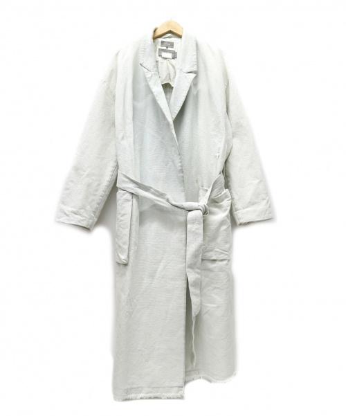 ATELIER BETON(アトリエベトン)ATELIER BETON (アトリエベトン) 刺し子コンシールコート スカイブルー サイズ:2 17SS・SASICO CONCEAL COATの古着・服飾アイテム