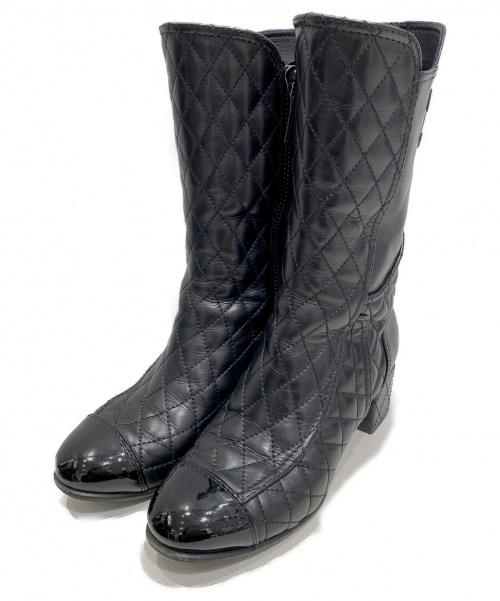 CHANEL(シャネル)CHANEL (シャネル) マトラッセブーツ ブラック サイズ:36 1/2の古着・服飾アイテム