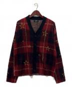 glamb(グラム)の古着「Wendy check cardigan」|レッド