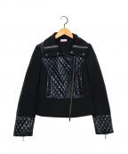 MAX&Co.(マックスアンドコー)の古着「キルティング切替ジャケット」|ブラック
