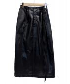 ELENDEEK(エレンディーク)の古着「サイドリボンスリムスカート」|ブラック