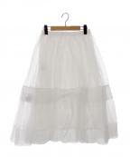 MUVEIL(ミュベール)の古着「シルクシアースカート」|ホワイト