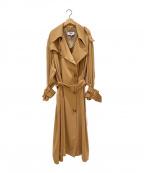 MM6 Maison Margiela(エムエムシックス メゾン マルジェラ)の古着「フリュイドPOオーバーサイズトレンチコート」|イエロー