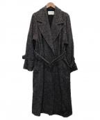 PUBLIC TOKYO()の古着「シルク混ツイードコート」|グレー