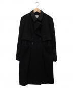 Yves Saint Laurent Rive Gauche(イヴ・サンローラン リヴ・ゴーシュ)の古着「メルトンウールコート」|グレー