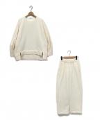 emmi atelier(エミアトリエ)の古着「裏起毛機能セットアップ」|ホワイト
