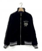 Hysteric Glamour(ヒステリックグラマー)の古着「BEARHEAD刺繍スタンドカラージャケット」|ブラック
