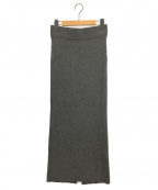AP STUDIO()の古着「ラムウールリブニットスカート」|グレー