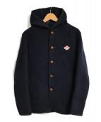 ()の古着「ウールモッサメルトンシングルフードジャケット」|ネイビー