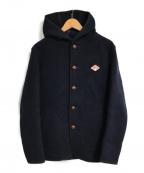 DANTON(ダントン)の古着「ウールモッサメルトンシングルフードジャケット」|ネイビー