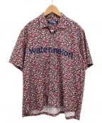 JUNYA WATANABE COMME des GARCONS MAN(ジュンヤワタナベコムデギャルソンマン)の古着「半袖シャツ」|グリーン×レッド