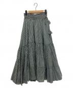 sara mallika(サラマリカ)の古着「ギンガムスカート」|ブラック
