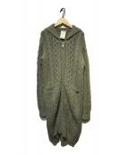 ()の古着「アルパカ混ニットコート」|グレー
