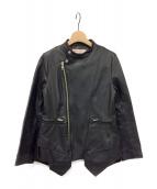 mint designs(ミント・デザインズ)の古着「レザーライダースジャケット」 ブラック