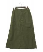 ()の古着「コットンライトキャンバススカート」|カーキ