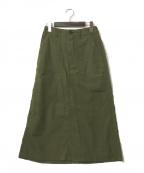 DANTON(ダントン)の古着「コットンライトキャンバススカート」|カーキ