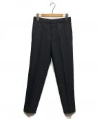 ebure(エブール)の古着「ビスウールボトムスセンタープレスパンツ」 ブラック