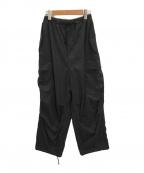 allumer(アリュメール)の古着「ボリュームカーゴパンツ」|ブラック