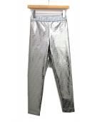 FENDI(フェンディ)の古着「ズッカ柄メタリックパンツ」|シルバー
