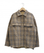 EMMEL REFINES(エメル リファインズ)の古着「チャックブルゾン」|ベージュ