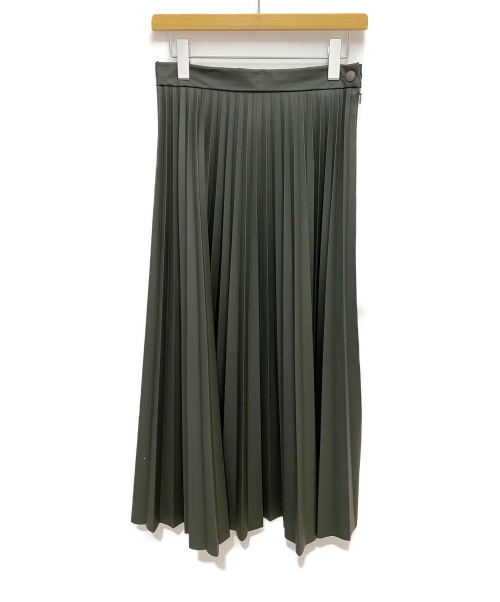MM6 Maison Margiela(エムエムシックス メゾンマルジェラ)MM6 Maison Margiela (エムエムシックスメゾンマルジェラ) アコーディオンプリーツスカート カーキ サイズ:42の古着・服飾アイテム