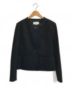 UNTITLED(アンタイトル)の古着「ノーカラーソフトジャケット」|ブラック