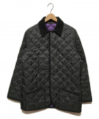 Traditional Weatherwear(トラディショナルウェザーウェア)の古着「WAVERLYキルティングハーフコート」|ブラック