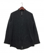 ripvanwinkle()の古着「ジップカーディガン」|チャコールグレー