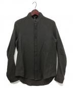 D.HYGEN()の古着「ウールリネンレイヤードカラーシャツ」|チャコールグレー