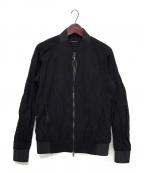 D.HYGEN(ディーハイゲン)の古着「Blend Silk Cotton Bomber JKT」 ブラック