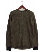 D.HYGEN(ディーハイゲン)の古着「スラブジャージー レイヤードロングスリーブTシャツ」|ブラウン