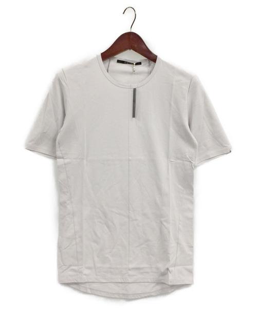 D.HYGEN(ディーハイゲン)D.HYGEN (ディーハイゲン) High Gauge Jersey Half Sleeve  ライトグレー サイズ:1の古着・服飾アイテム