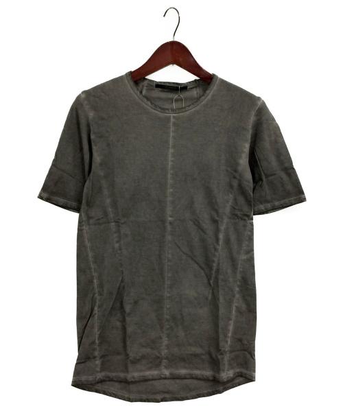D.HYGEN(ディーハイゲン)D.HYGEN (ディーハイゲン) Over Cold Dye Half Sleeve T グレー サイズ:1の古着・服飾アイテム