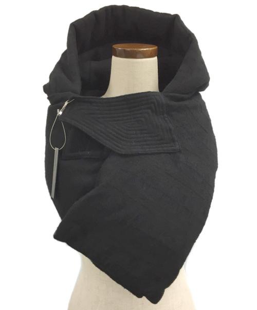 D.HYGEN(ディーハイゲン)D.HYGEN (ディーハイゲン) Jacquard Striped Down Hood Sno ブラック サイズ:FREE 未使用品の古着・服飾アイテム