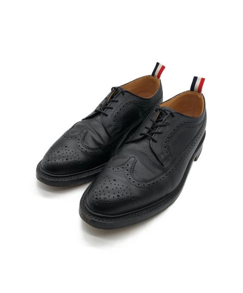 Thom Browne(トムブラウン)Thom Browne (トムブラウン) ウィングチップシューズ ブラック サイズ:US10の古着・服飾アイテム
