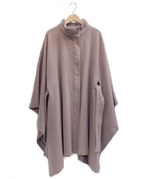 Snidel(スナイデル)Snidel (スナイデル) スタンドカラーポンチョコート ピンク サイズ:表記サイズ:Freeの古着・服飾アイテム