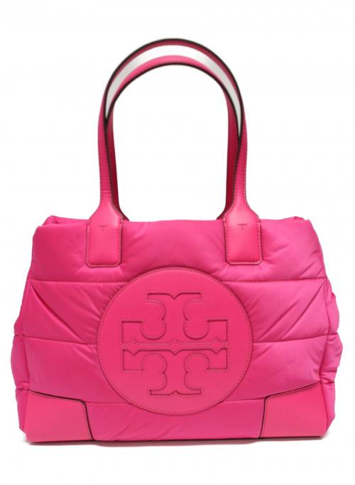 TORY BURCH(トリーバーチ)TORY BURCH (トリーバーチ) エラサテンミニパッファートート ピンクの古着・服飾アイテム