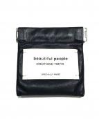 beautiful people(ビューティフルピープル)の古着「レザーコインケース」|ブラック